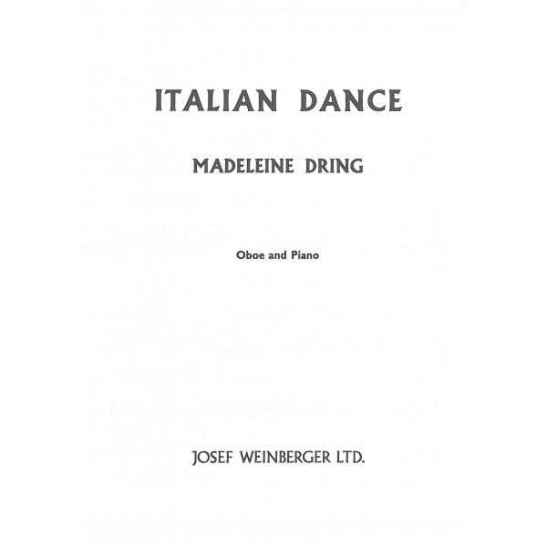 Dring, Madeleine - Italian Dance (Oboe & Pf)
