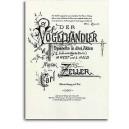Zeller, Carl - Der Vogelhandler (V/score)