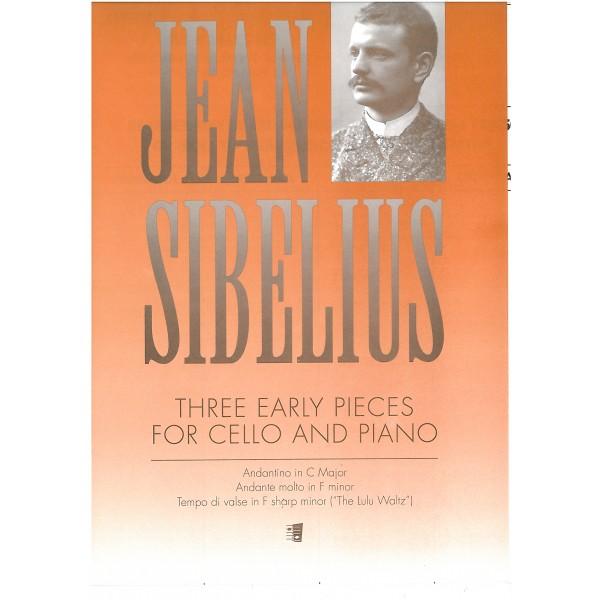 Sibelius, Jean - Three Early Pieces for Cello.