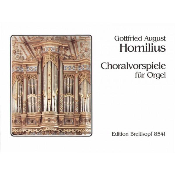 Homilius Choral Preludes for organ Breitkopf Urtext ed. by Christoph Albrecht