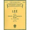 Sebastian Lee: 40 Melodic And Progressive Etudes For Cello Op.31 Book 1 (Nos.1-22) - Lee, Sebastian (Artist)