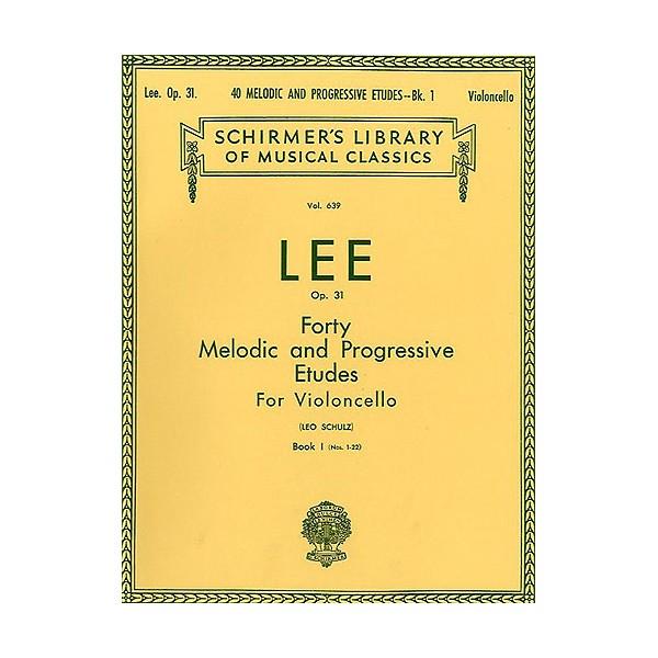 Sebastian Lee: 40 Melodic And Progressive Etudes For Cello Op.31 Book 1 (Nos.1-22) - Lee, Sebastian (Artist)