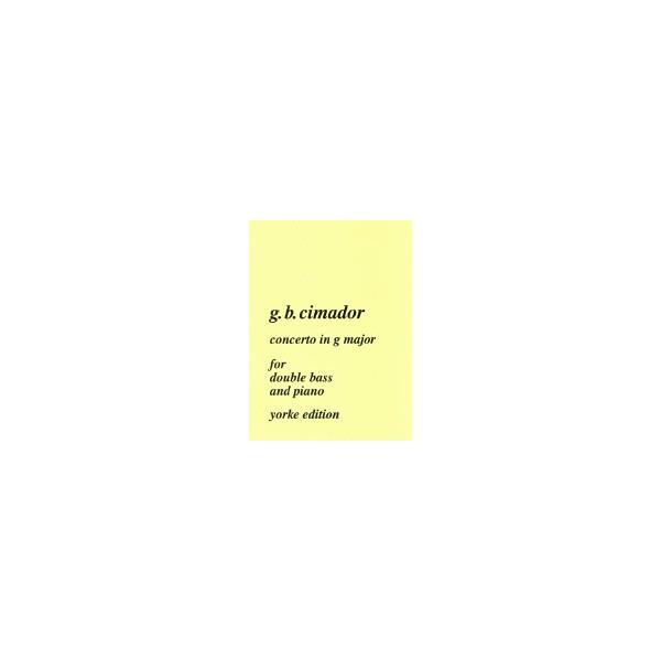 Cimador, G B - Concerto in G