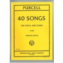 Purcell, Henry - 40 Songs for Low Voice & Piano