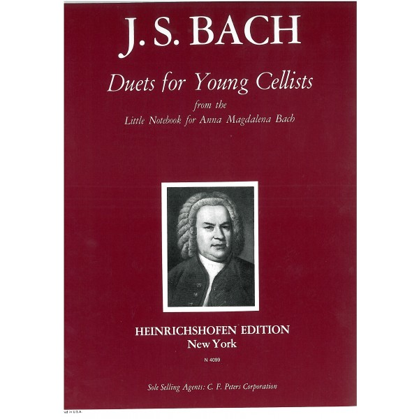 Bach, J S - Duets for Young Cellists
