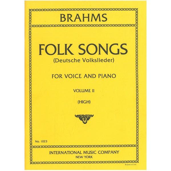 Brahms, Johannes - Deutsche Volklieder, Vol 2 High
