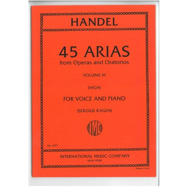 Handel, G F - 45 Arias Volume 3 (High)