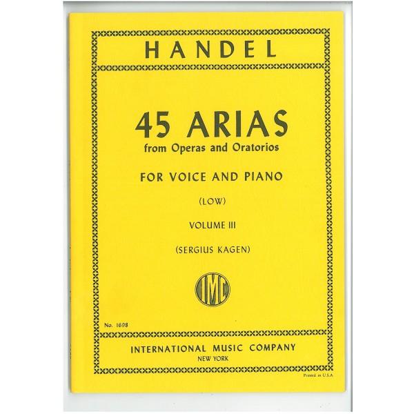 Handel, G F - 45 Arias Volume 3 (Low)