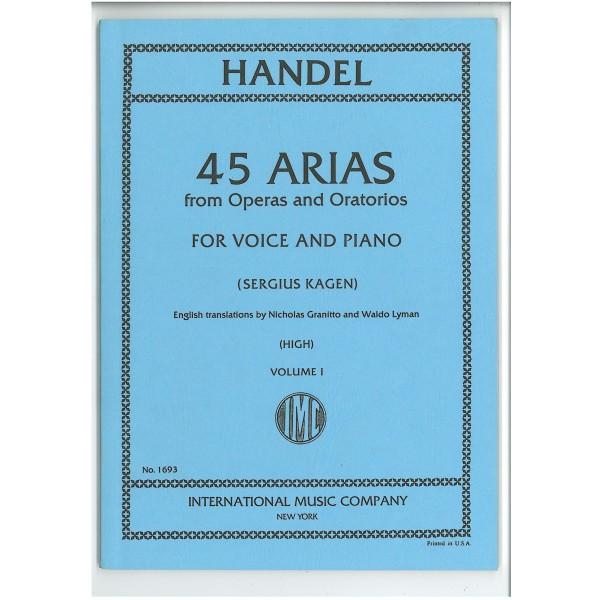Handel, G F - 45 Arias Volume 1 (High)