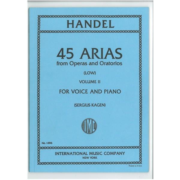 Handel, G F - 45 Arias Volume 2 (Low)