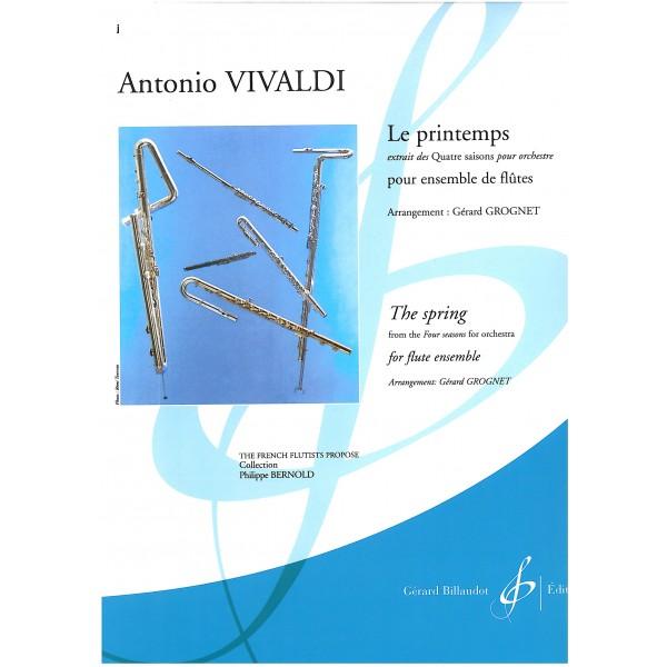 Vivaldi, Antonio - Le Printemps pour ensembles de flûtes