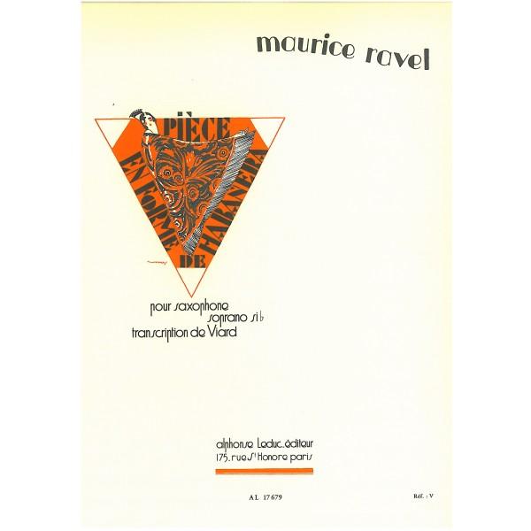 Ravel, Maurice - Piece en forme de Habanera, Bb edition
