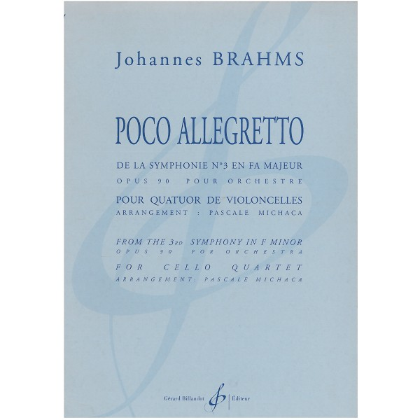 Brahms, Johannes - Poco Allegretto (4 Cellos)