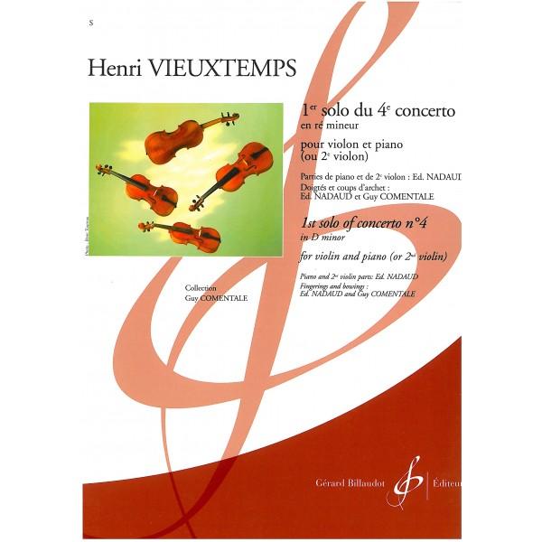 Vieustemps, Henri - 1st solo of Concert no. 4 in D minor