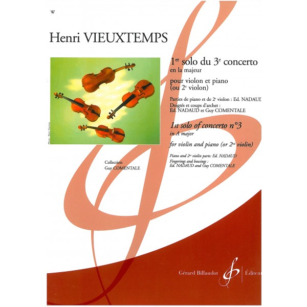 Vieuxtemps, Henri - 1st solo of Concert no. 3 in A major