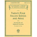 24 Italian Songs & Arias of the 17th & 18th Centuries