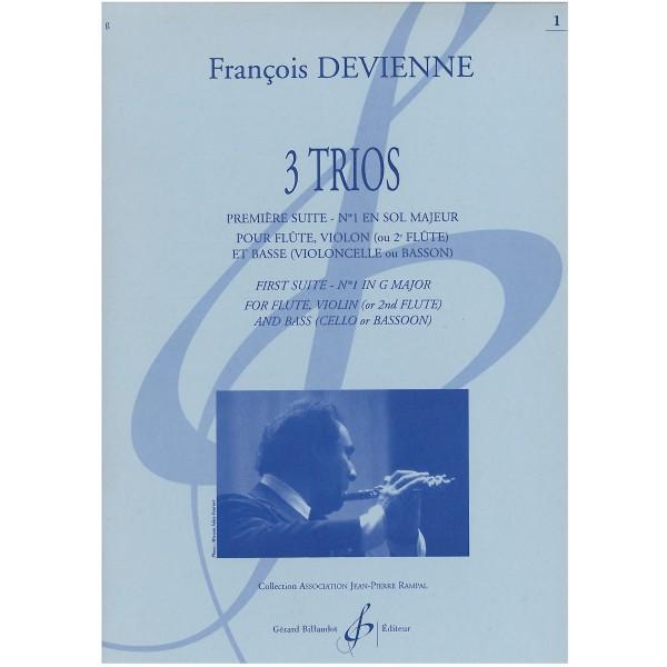 Francois Devienne Trois Trios - Premiere Suite No. 1 en sol majeur pour Flute, Violin ou deuxieme Flute et Violoncelle ou Basson