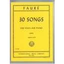 Faure, Gabriel - 30 Songs for High Voice & Piano