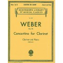 Carl Maria Von Weber: Concertino For Clarinet And Orchestra Op.26 (Clarinet/Piano) - Weber, Carl Maria Von (Composer)