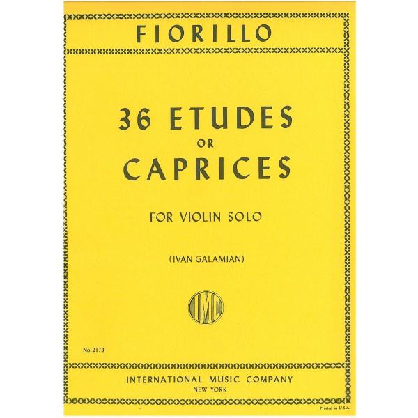 Fiorillo, Federigo - 36 Etudes or Caprices