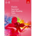 ABRSM Violin Specimen Sight-Reading Tests - Grades 6-8