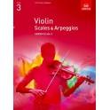 ABRSM Violin Scales and Arpeggios Grade 3