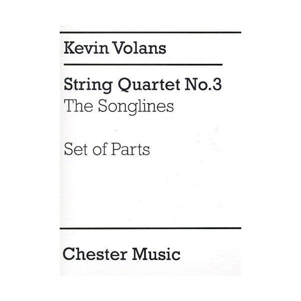 Kevin Volans: String Quartet No.3 The Songlines (Parts) - Volans, Kevin (Artist)