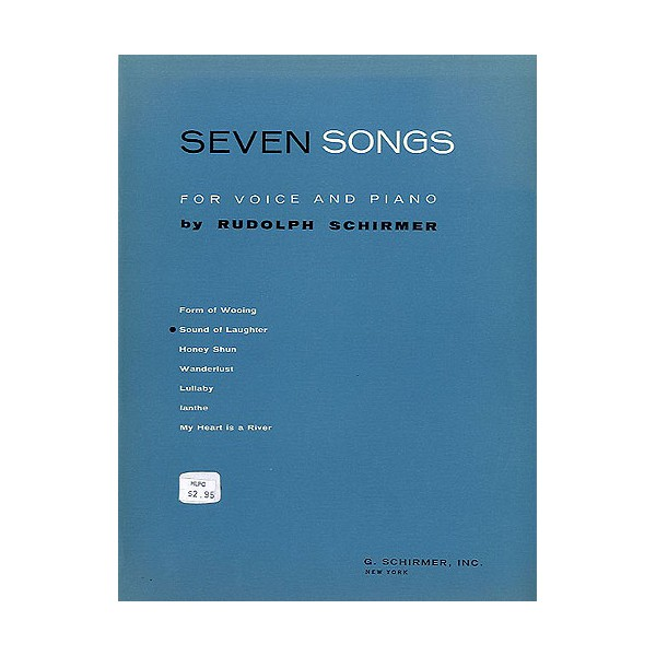 Rudolph Schirmer: Sound Of Laughter (From Seven Songs For Voice And Piano) - Schirmer, Rudolph (Artist)
