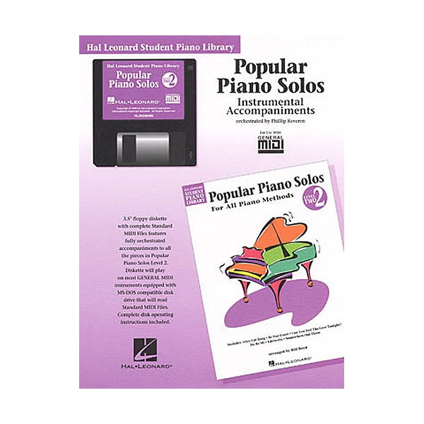 Hal Leonard Student Piano Library: Popular Piano Solos Level 2(br) Instrumental Accompaniments (Disk)