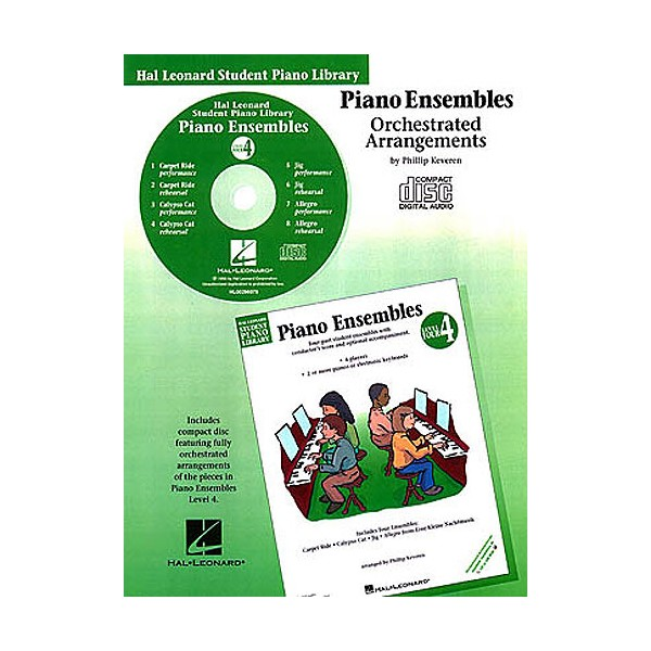 Hal Leonard Student Piano Library: Piano Ensembles Level 4 (CD)