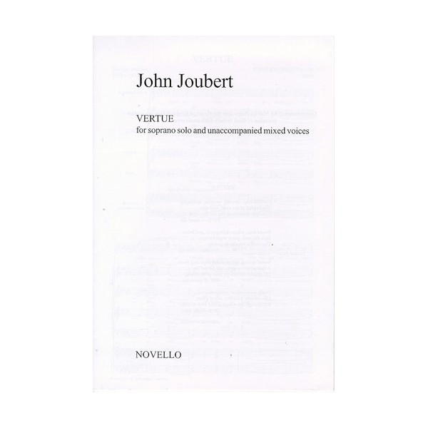 John Joubert: Vertue - Joubert, John (Artist)