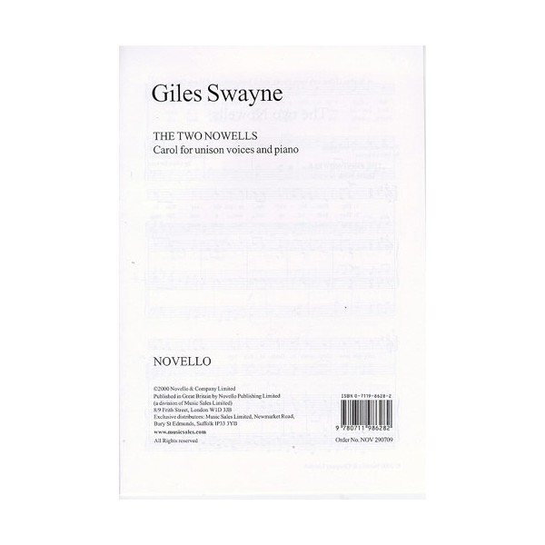 Giles Swayne: The Two Nowells - Swayne, Giles (Author)