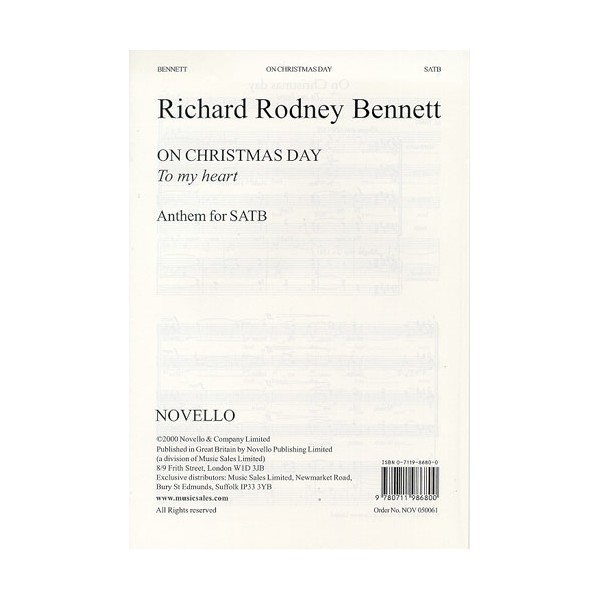 Richard Rodney Bennett: On Christmas Day - Bennett, Richard Rodney (Artist)
