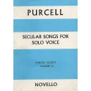Purcell, Henry - Secular Songs For Solo Voice (Purcell Society Volume 25)