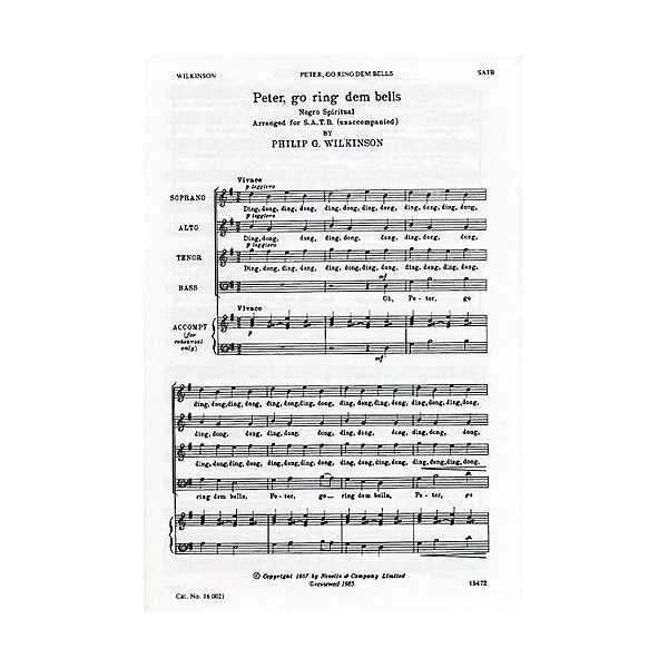 Wilkinson: Go Ring Dem Bells For SATB - Wilkinson, Philip G. (Artist)