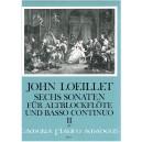 Loeillet, John - Six Sonatas, op. 3 volume 2