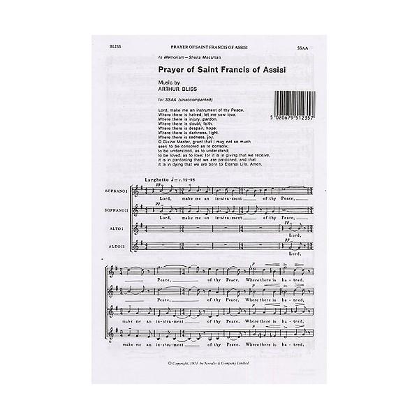Arthur Bliss: Prayer Of Saint Francis Of Assisi - Bliss, Arthur (Composer)