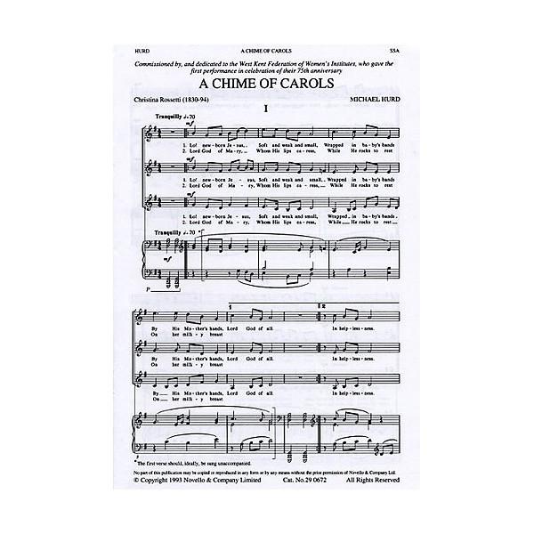 Michael Hurd: A Chime Of Carols For SSA - Hurd, Michael (Artist)