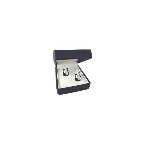 Silver-plated Electric Guitar Cufflinks