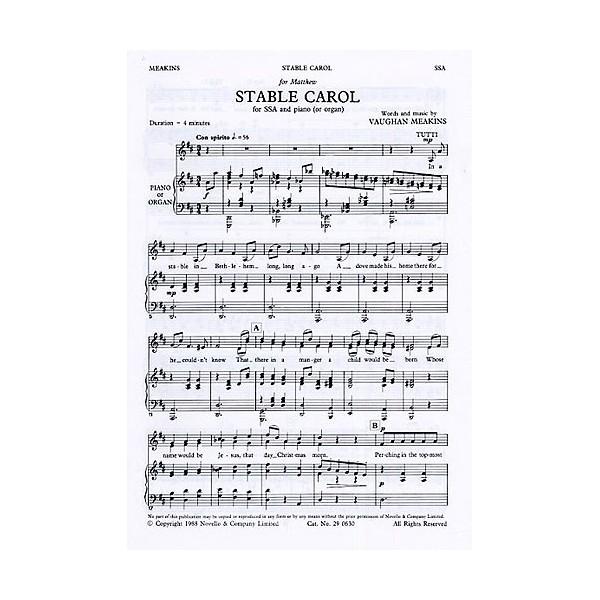 Vaughan Meakins: Stable Carol - Meakins, Vaughan (Artist)