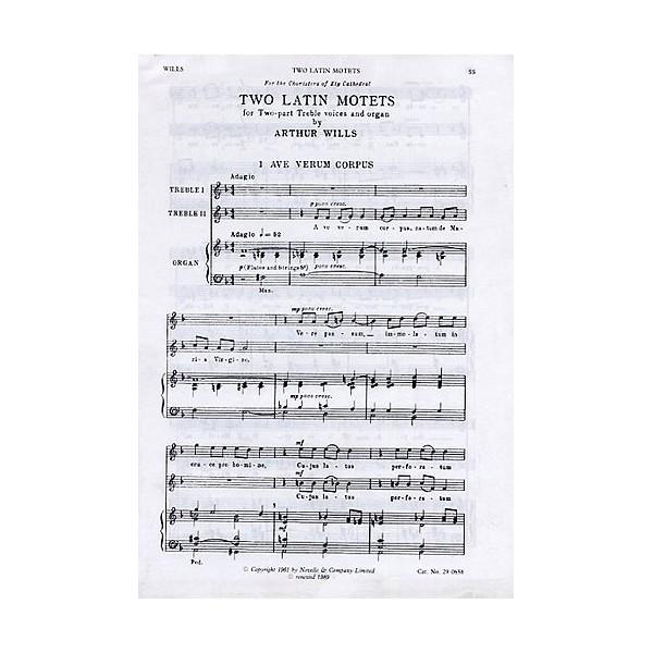 Arthur Wills: Two Latin Motets - Wills, Arthur (Artist)