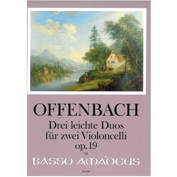 Offenbach, Jacques - Three very easy Cello duets, op 19