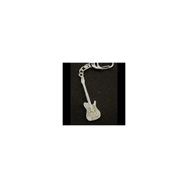 Pewter Keyring - Electric Guitar (T)
