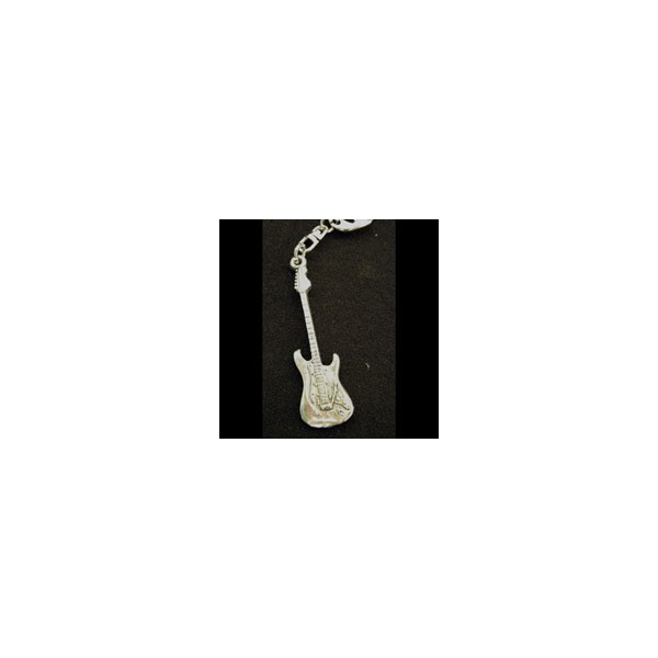 Pewter Keyring - Electric Guitar (S)