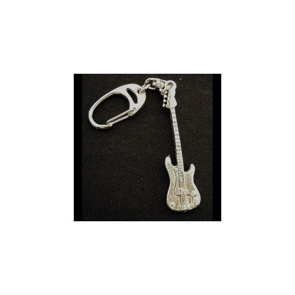 Pewter Keyring - Bass Guitar