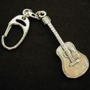 Pewter Keyring - Acoustic Guitar