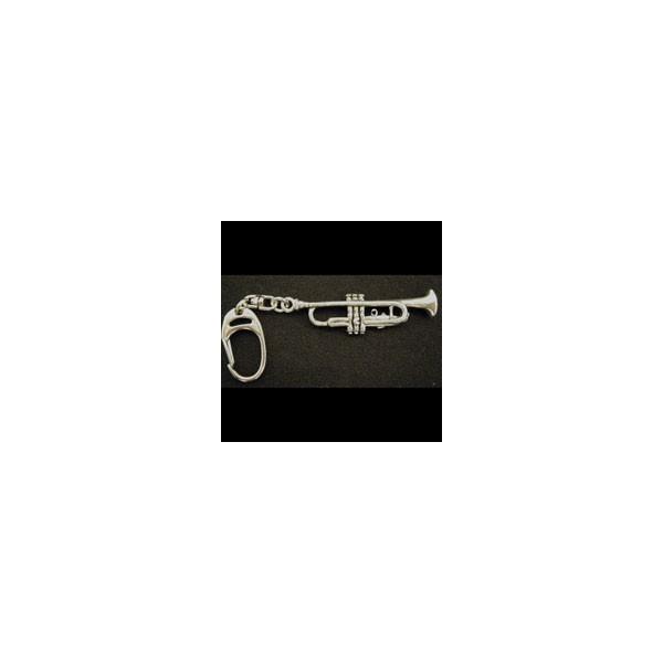 Pewter Keyring - Trumpet