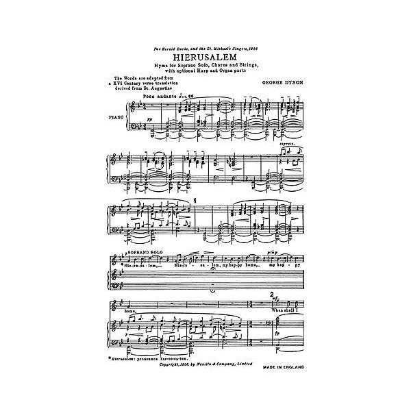 George Dyson: Hierusalem (Vocal Score)