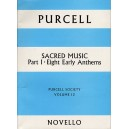 Purcell Society Volume 13 - Sacred Music Part 1 Eight Early Anthems - Purcell, Henry (Artist)