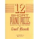 Ernst Krenek: Twelve Short Piano Pieces Written In The Twelve-Tone Technique Op.83 - Krenek, Ernst (Composer)